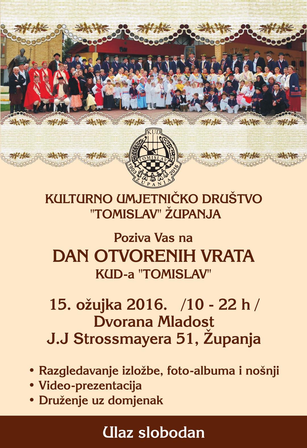 Dan otvorenih vrata KUD-a Tomislav