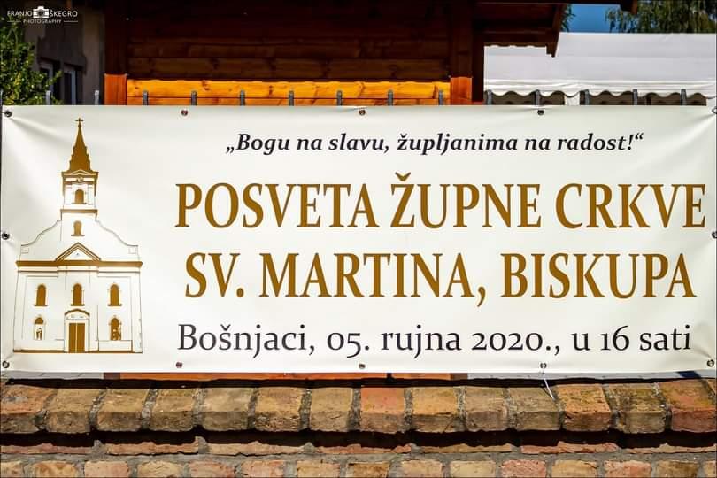 Crkva svetog Martina biskupa u Bošnjacima posvećena je nakon 226 godina