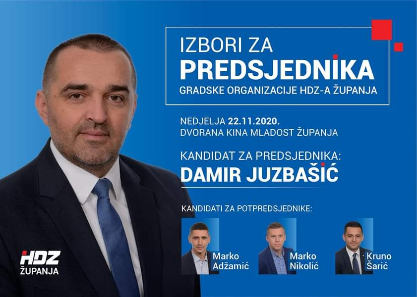 PROMJENE U ŽUPANJI I GUNJI: Damir Juzbašić i Antonio Marković na čelu HDZ-a