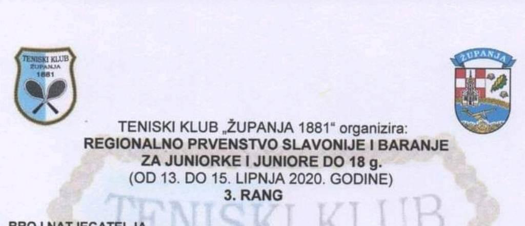 Regionalno prvenstvo Slavonije i Baranje u tenisu