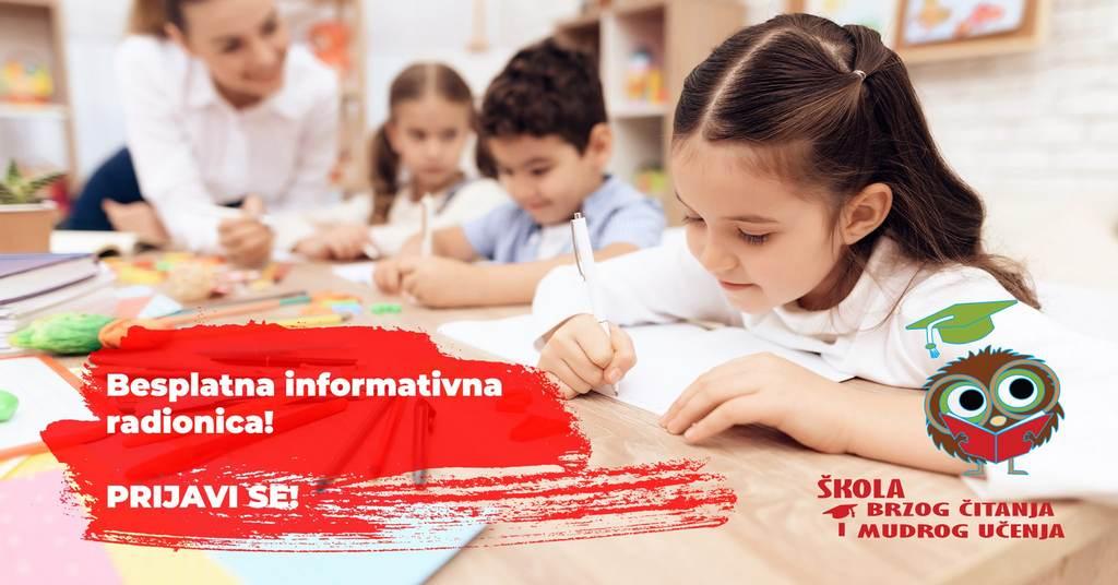 ŠKOLA BRZOG ČITANJA I MUDROG UČENJA ŽUPANJA- za djecu, odrasle i studente