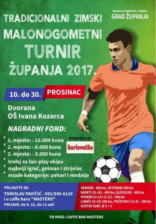 Zimski malonogometni turnir Županja 2017.
