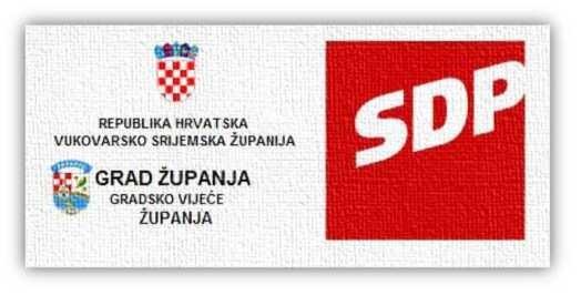 Priopćenje Gradske organizacije SDP-a Županja