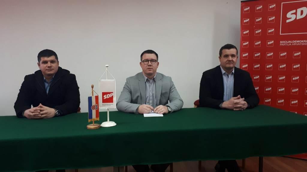 Predstavljanje kandidata SDP-a Županja za gradonačelnika i zamjenika gradonačelnika